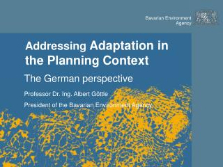 Addressing  Adaptation in the Planning Context
