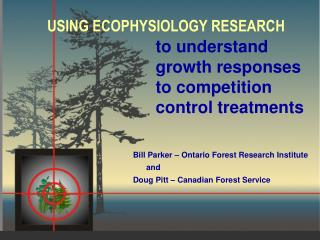 to understand growth responses to competition control treatments