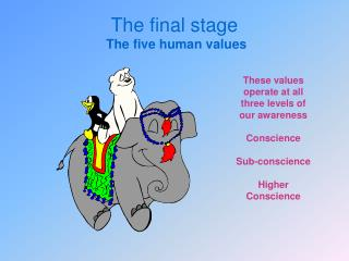The final stage  The five human values