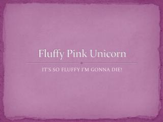 Fluffy Pink Unicorn