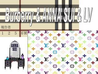 Burberry & ANNA SUI & LV