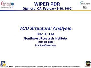 TCU Structural Analysis