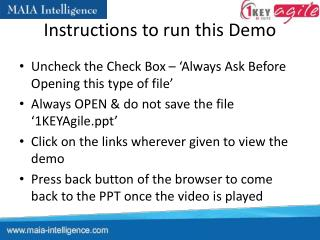 Instructions to run this Demo