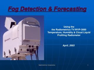Fog Detection & Forecasting