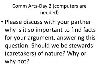 Comm  Arts-Day 2 (computers are needed)