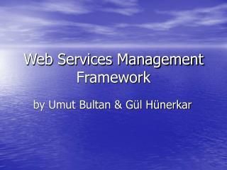 Web Services Management Framework