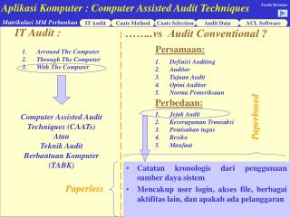 IT Audit :