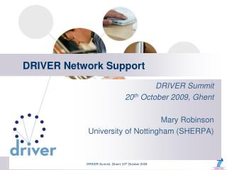 DRIVER Network Support
