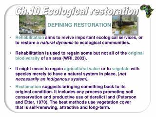 Defining restoration