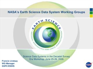 NASA's Earth Science Data System Working Groups
