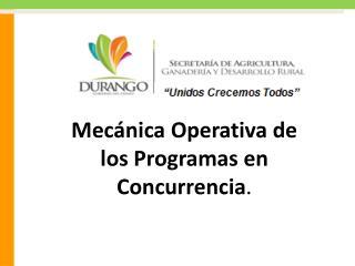 Mec nica Operativa de los Programas en Concurrencia.