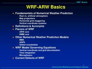 WRF-ARW Basics