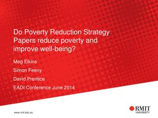 Do Poverty Reduction Strategy Papers reduce poverty and improve well-being?