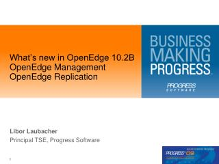 What's new in OpenEdge 10.2B OpenEdge Management OpenEdge Replication