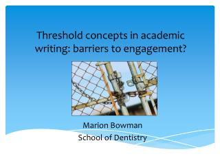 Threshold concepts in academic writing: barriers to engagement?