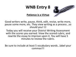 WNB Entry  8