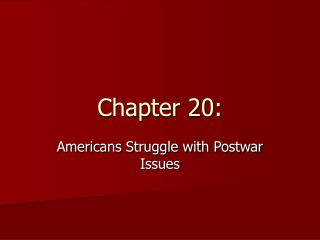 Chapter 20: