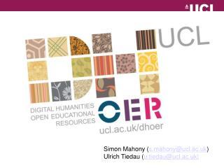 Simon Mahony ( s.mahony@ucl.ac.uk ) Ulrich Tiedau ( u.tiedau@ucl.ac.uk)