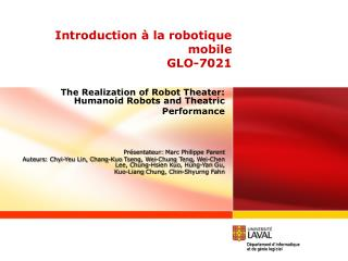 Introduction à la robotique mobile GLO-7021