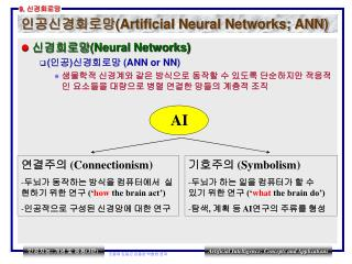 인공신경회로망 (Artificial Neural Networks; ANN)