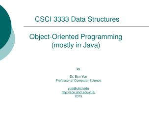 Object-Oriented Programming (mostly in Java)