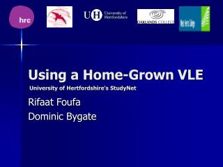 Using a Home-Grown VLE