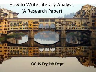 How to Write Literary Analysis  (A Research Paper)