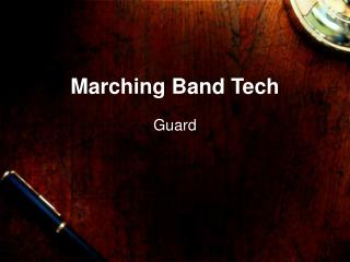 Marching Band Tech
