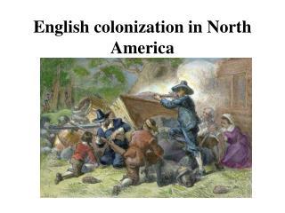 English colonization in North America
