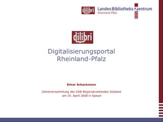 Digitalisierungsportal  Rheinland-Pfalz