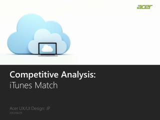 Competitive Analysis: iTunes Match
