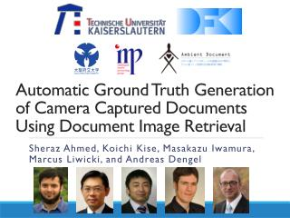 Automatic Ground Truth Generation  of Camera  Captured Documents  Using Document  Image Retrieval