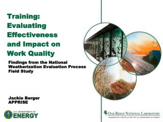 Training:  Evaluating Effectiveness and Impact on Work Quality