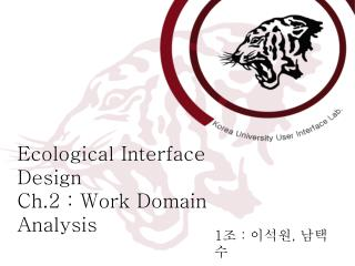 Ecological Interface Design Ch.2 : Work Domain Analysis