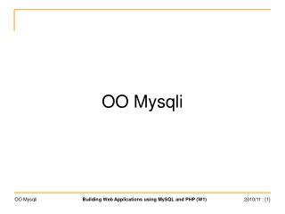 OO Mysqli