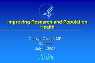 Improving Research and Population Health