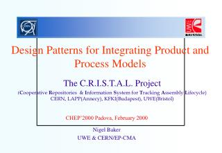 Design Patterns for Integrating Product and Process Models