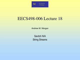 EECS498-006 Lecture 18