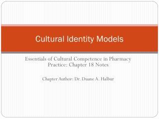 Cultural Identity Models