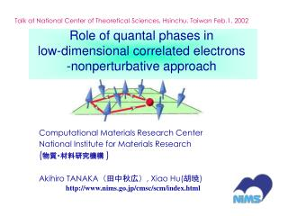 Role of quantal phases in  low-dimensional correlated electrons -nonperturbative approach
