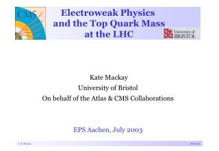 Electroweak Physics  and the Top Quark Mass  at the LHC