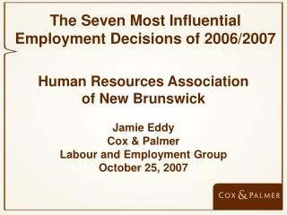 Human Resources Association of New Brunswick