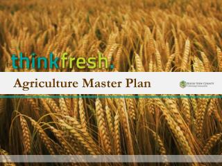 Agriculture Master Plan