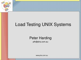 Load Testing UNIX Systems