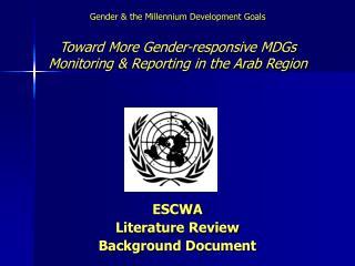 ESCWA Literature Review Background Document