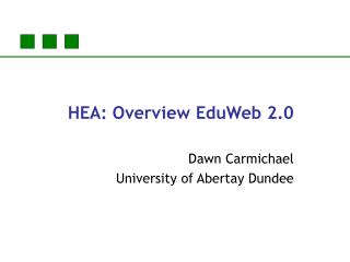 HEA: Overview EduWeb 2.0