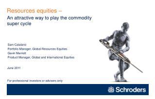 Resources equities  –