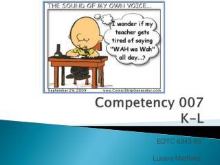 Competency 007 K-L
