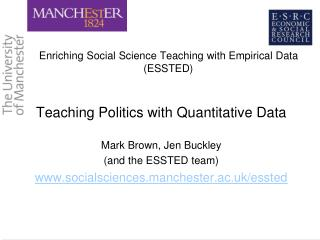 Enriching  Social Science Teaching with Empirical Data (ESSTED)