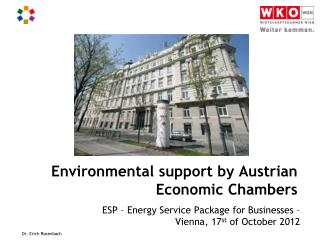 Environmental support by Austrian Economic Chambers